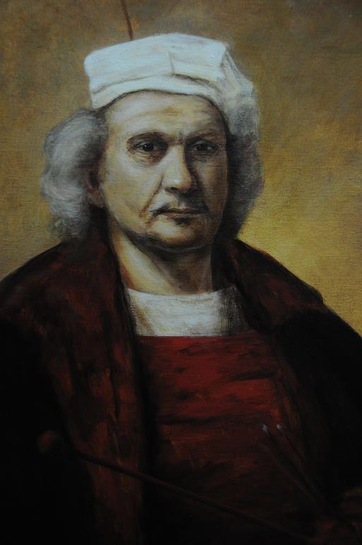 Copy of a self potrait of Rembrandt
