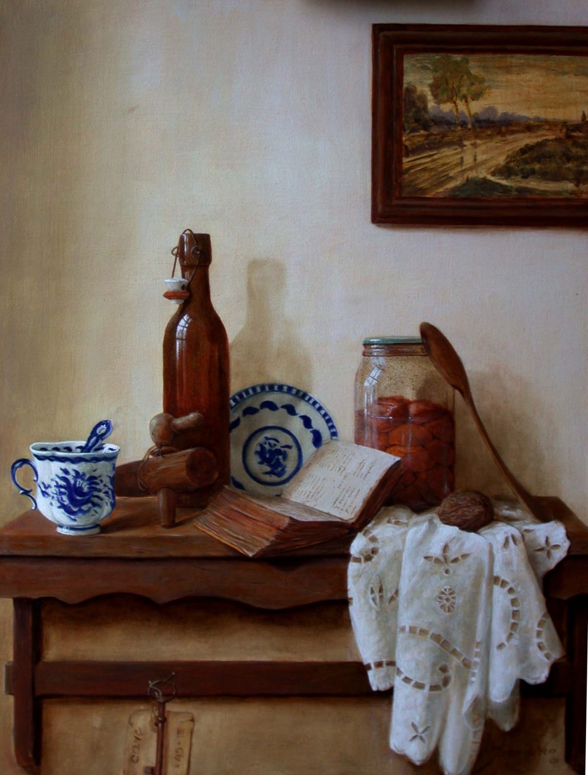 still life with russian painting.R